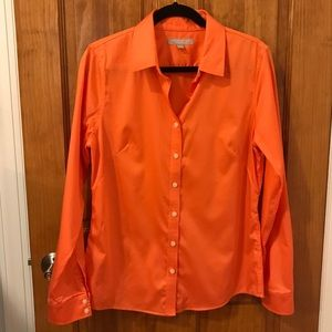 Banana Republic No Iron Fitted Button Front Shirt